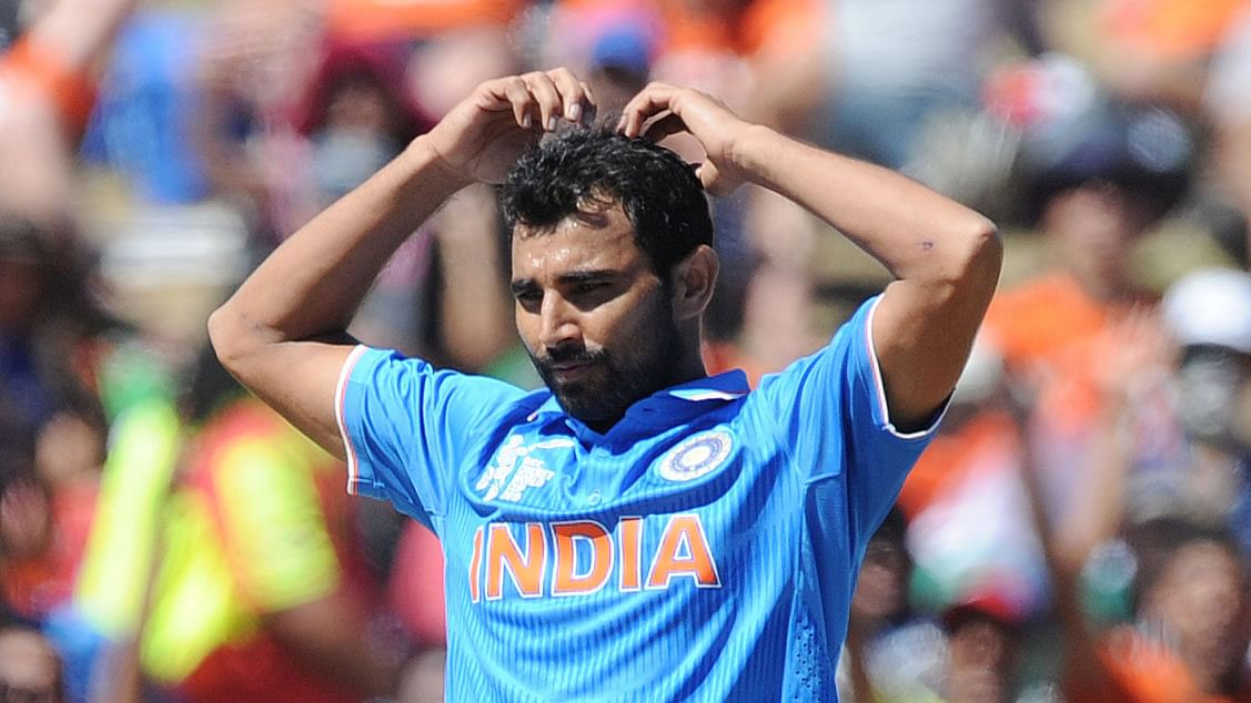 File picture of Mohammed Shami from the 2015 Cricket World Cup. (Photo: AP)