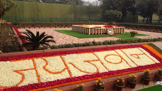 Vijay Ghat, a fitting memorial for the man whose decisive leadership won India the war against Pakistan in 1965. (Photo: Twitter/@dibang)