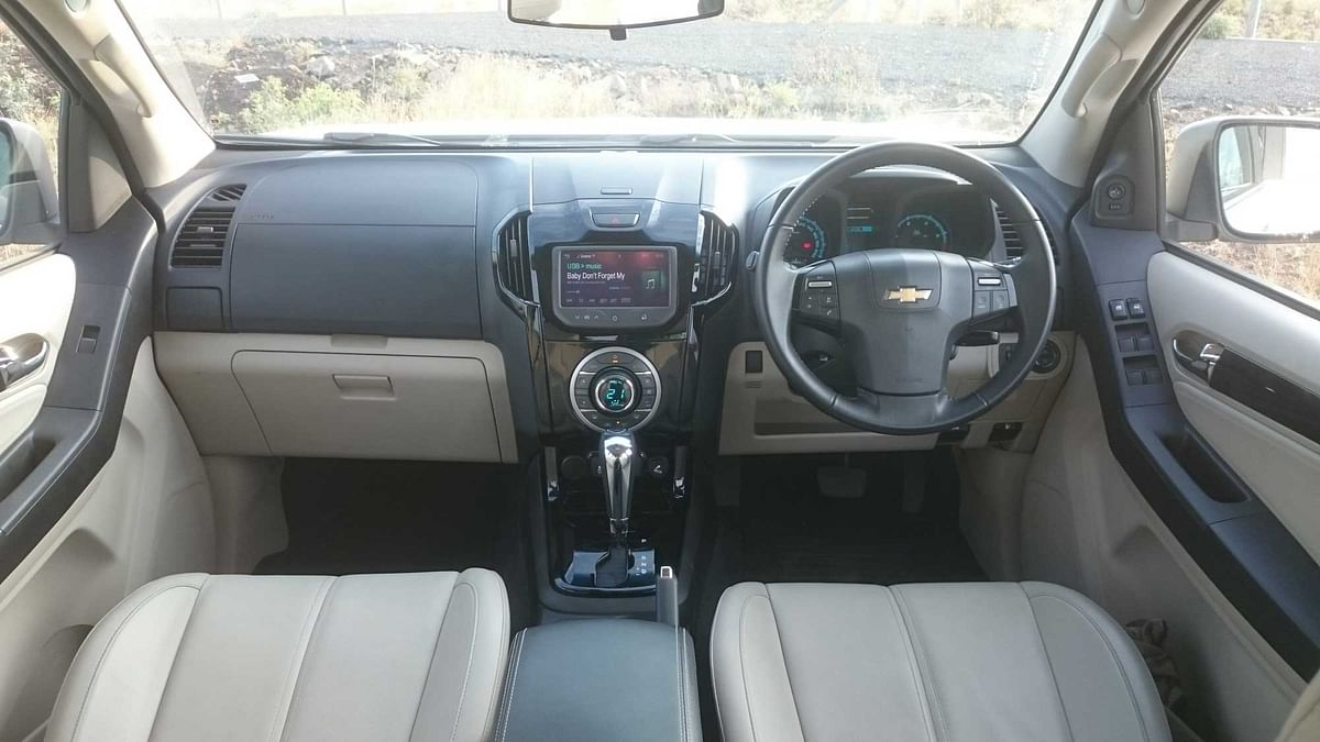 "Interiors of Chevrolet Trailblazer 2.8 LTZ. (Photo: <a href=""https://www.motorscribes.com/"">MotorScribes</a>)"