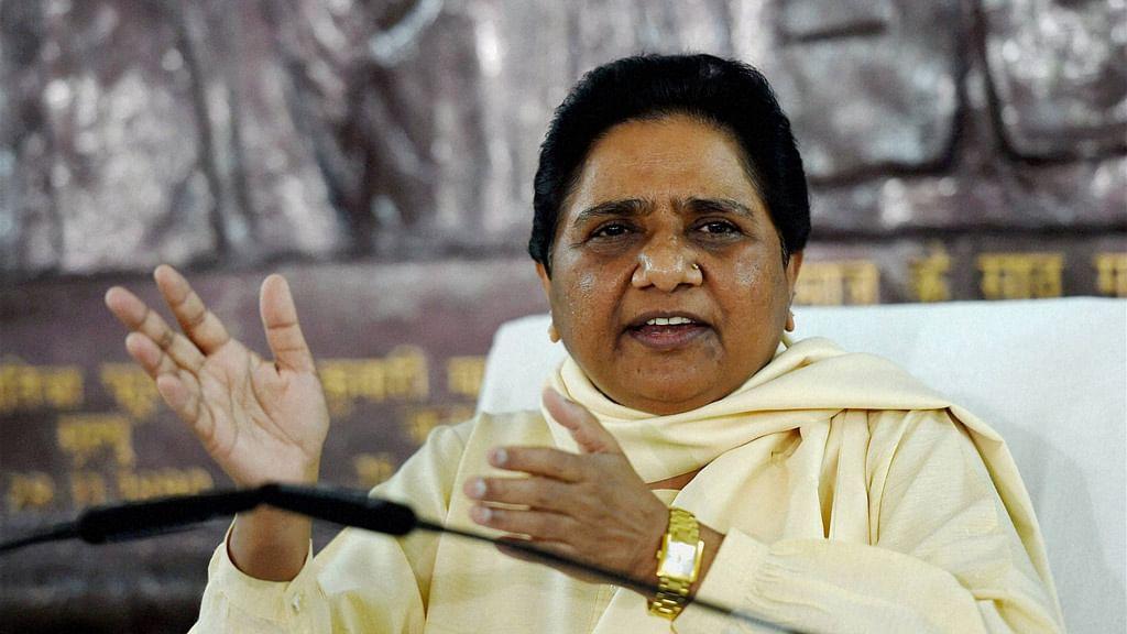 Bahujan Samajwadi Party Chief Mayawati. (Photo: PTI)