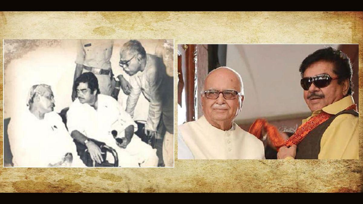 Shatrughan Sinha with Atal Bihari Vajpayee and LK Advani (Photo courtesy: Om Books International)