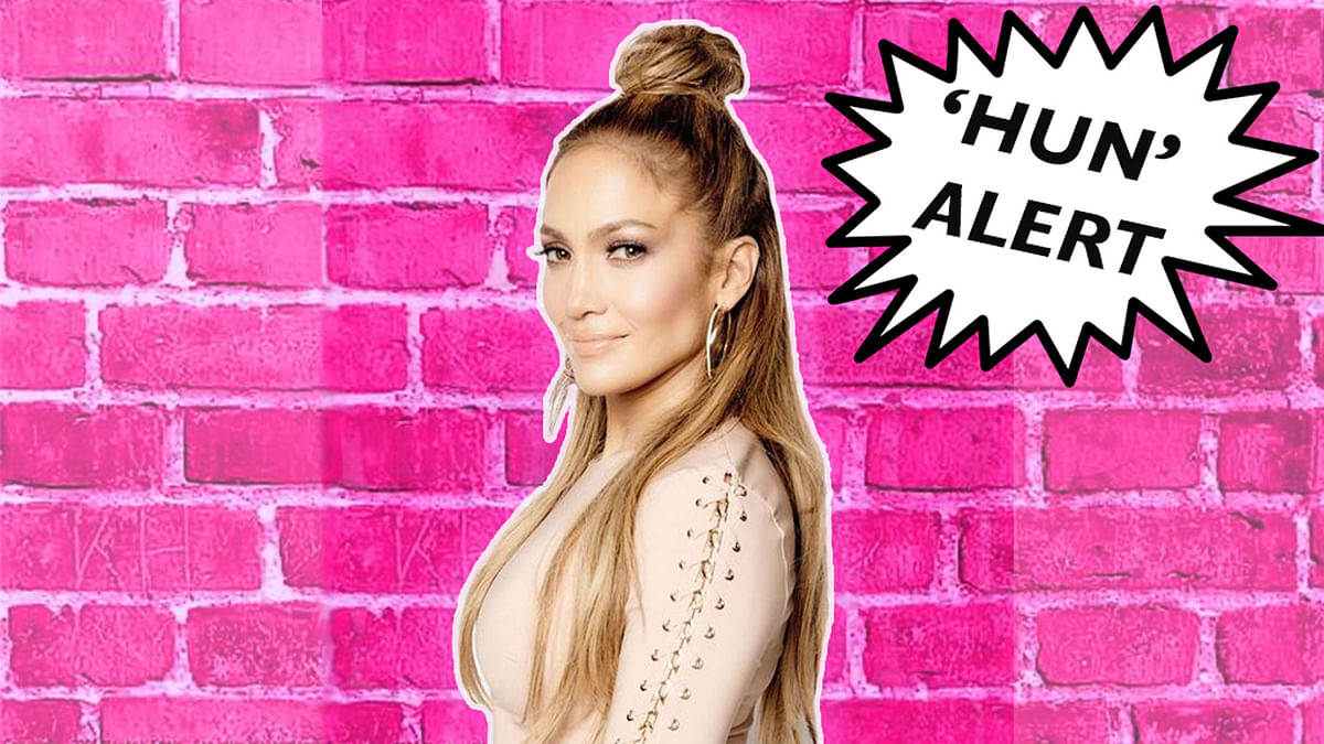 Can you rock the hun aka half bun, quite like Jennifer Lopez? (Photo: Pinterest, altered by The Quint)