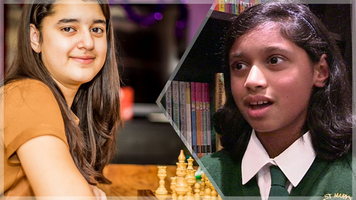 Kashmea Wahi (right) and Anushka Binoy (left) have both scored the highest possible score, 162, in the Mensa IQ Test. (Photo altered by <b>The Quint</b>)