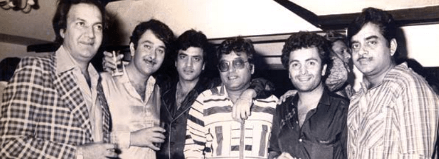 Prem Chopra, Randhir Kapoor, Jeetendra, Subhash Ghai, Rishi Kapoor and Shatrughan Sinha (Photo courtesy: Om Books International)