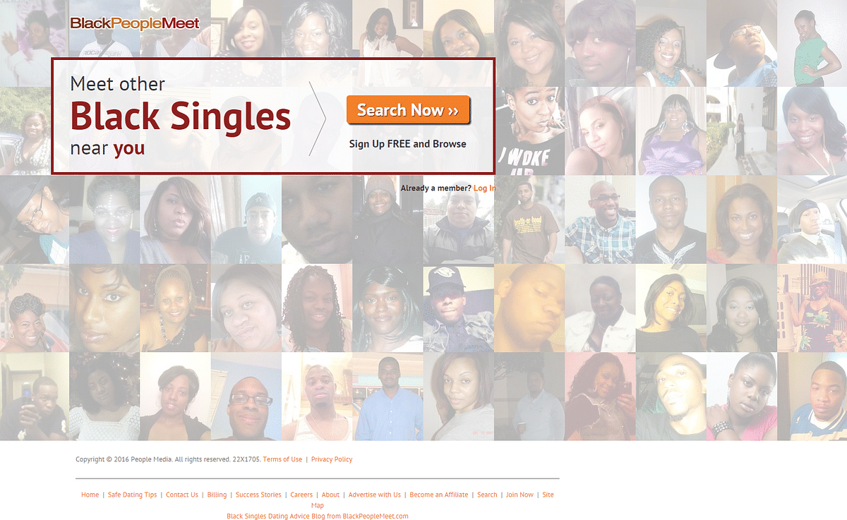 "A website catering to the black community. (Photo: <a href=""http://www.blackpeoplemeet.com/"">BlackPeopleMeet</a>)"