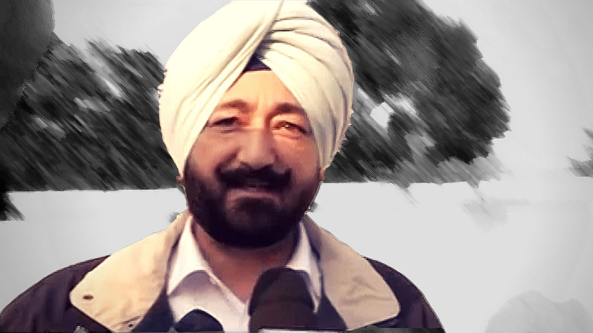 SP Salwinder Singh faces sexual harassment charges. (Photo: ANI screengrab/Altered by <b>The Quint</b>)
