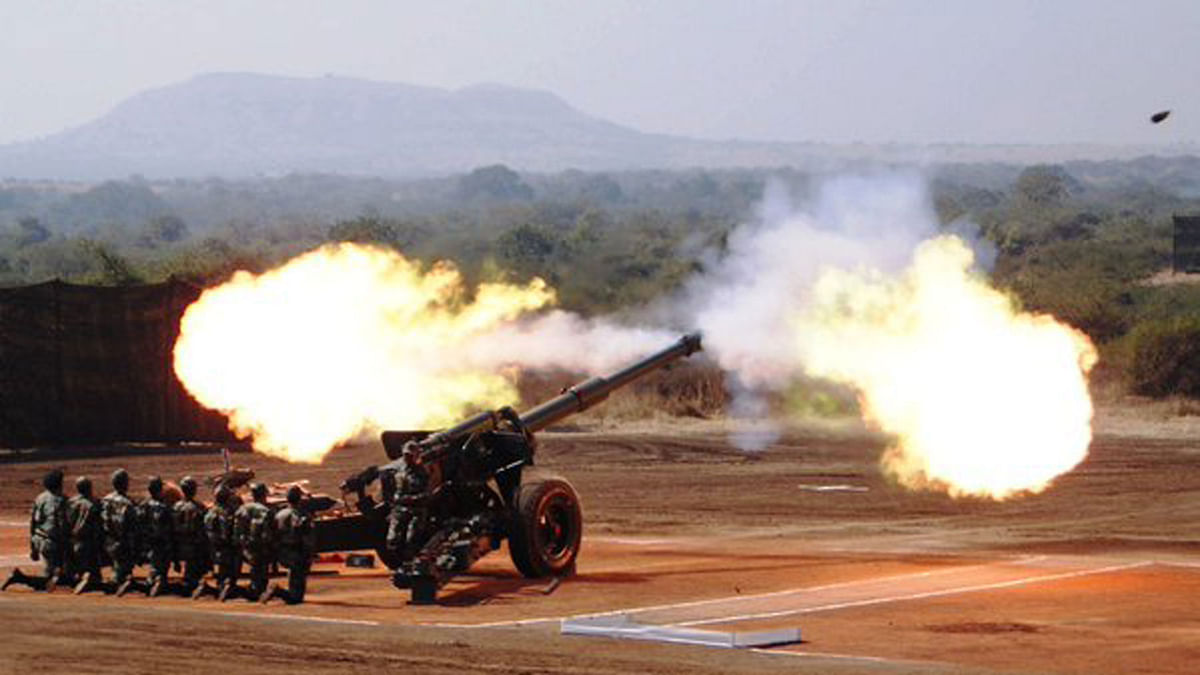 School of Artillery conducts 'Sarvatra Prahar' exercise at Devlali. (Photo courtesy: twitter.com/SpokespersonMoD)