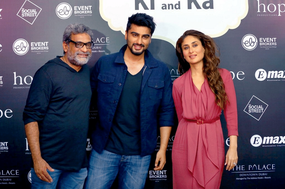 "R Balki with Arjun Kapoor and Kareena Kapoor during a promotional event for <i>Ki &amp; Ka </i>(Photo: Twitter/<a href=""https://twitter.com/arjunkusafc"">@arjunkusafc</a>)"