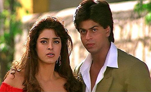"""She's the one actor I could never outdo,"" SRK on co-star Juhi. (Photo Courtesy: <a href=""https://www.facebook.com/srkuniverse/photos_stream"">Facebook/Shah Rukh Khan Fan Club</a>)"