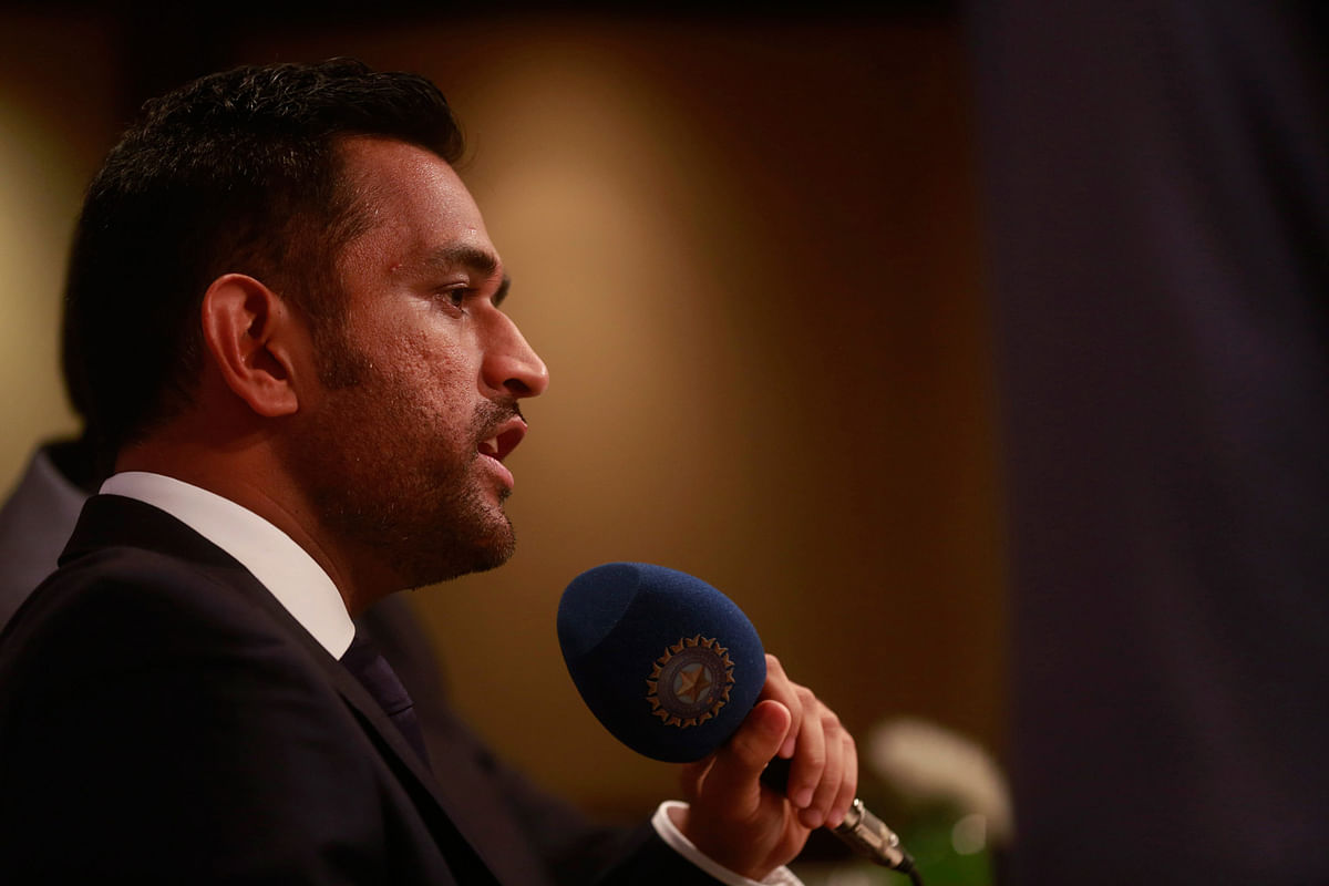 India's captain Mahendra Singh Dhoni speaks during a press conference (Photo: AP)