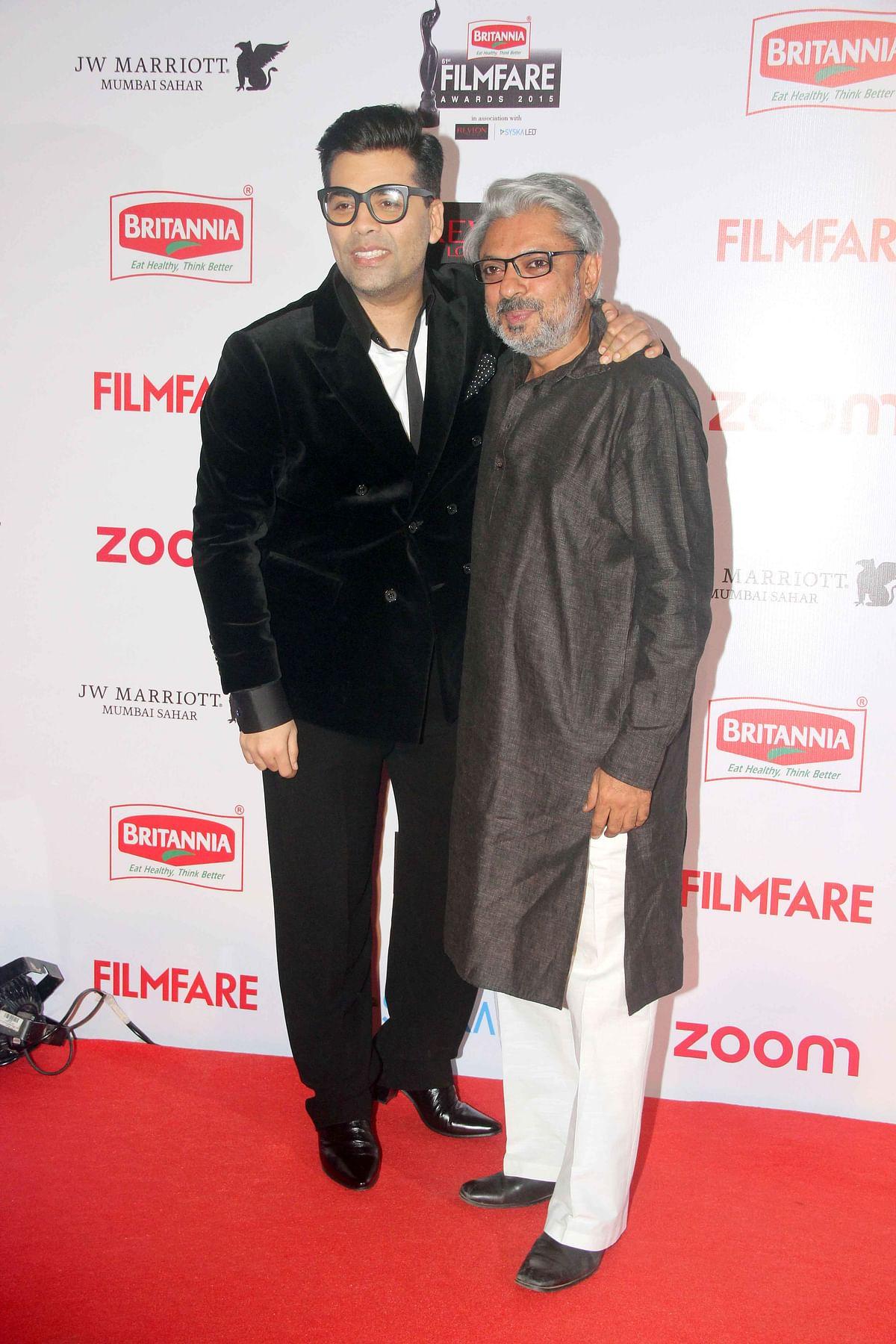 Duo worth a  million bucks: Karan Johar and Sanjay Leela Bhansali (Photo: Yogen Shah)