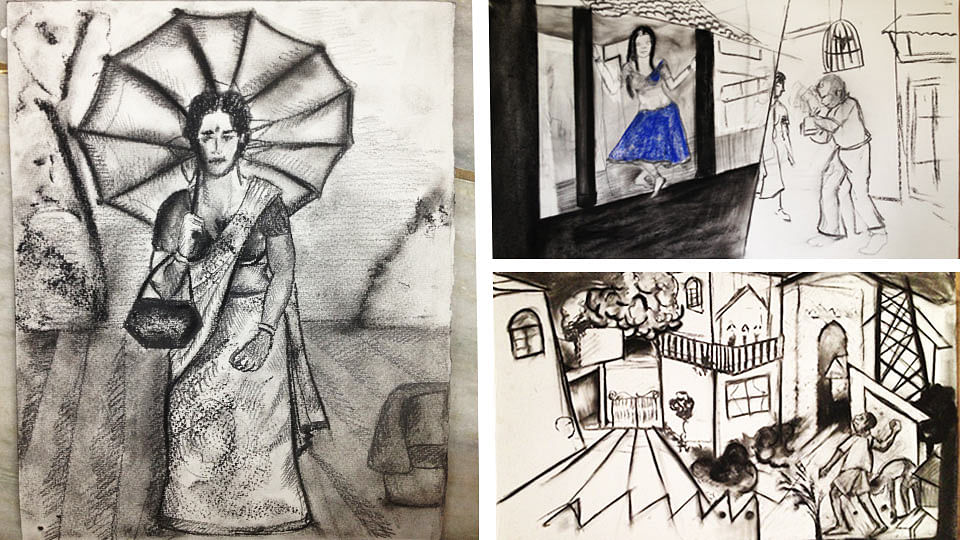 Chintan Updhyay's sketches. (Photo provided to <b>The Quint </b>by Khalid Mohamed)