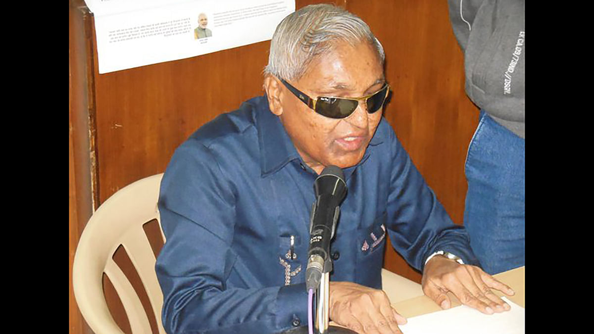 Visually impaired newsreader Dhanraj Patil. (Photo: IANS)