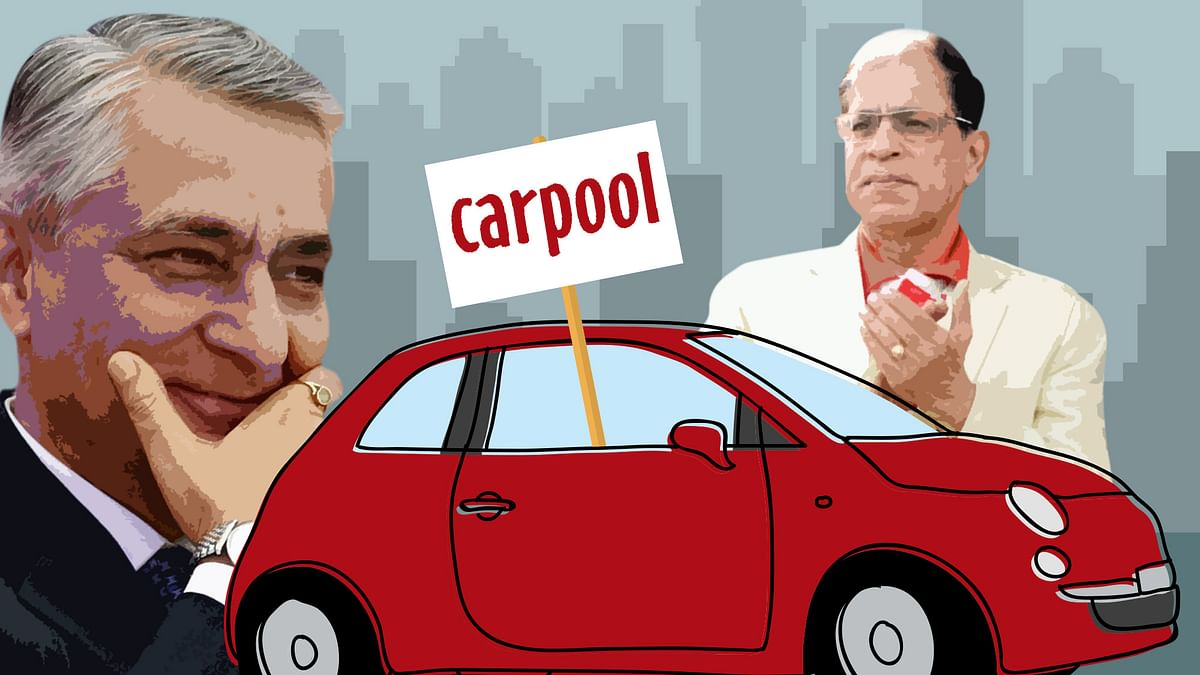 CJI TS Thakur and fellow judge AK Sikri have opted to carpool to court despite being exempt from the odd-even policy. (Photo: <b>The Quint</b>)