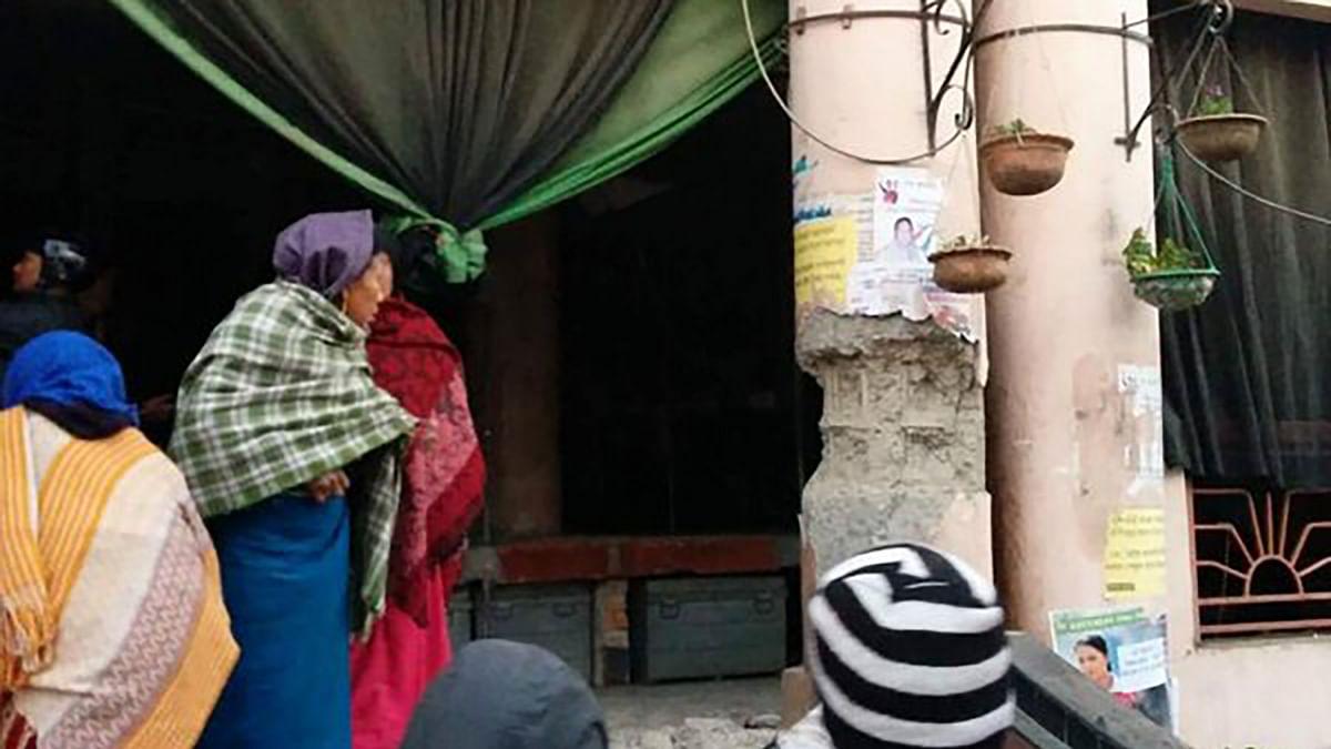 "The damaged pillars of Imphal's Mothers' Market. (Photo Courtesy: <a href=""https://twitter.com/BinaNepram/status/683873567193174016"">Twitter</a>)"