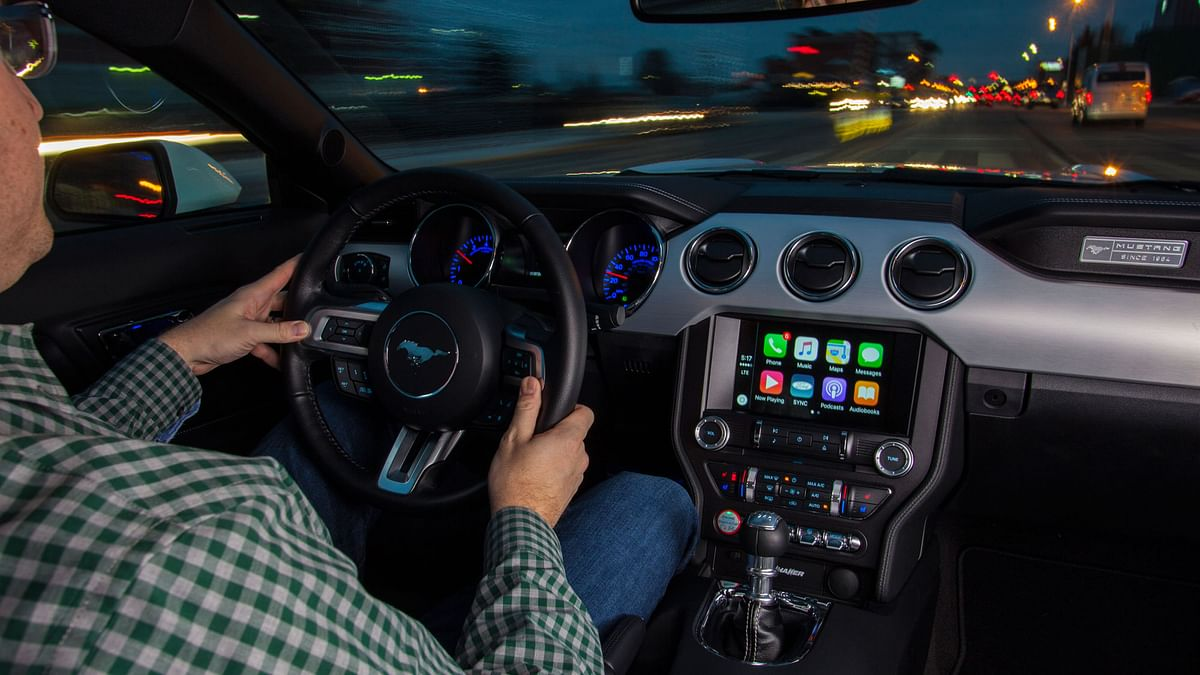 Apple CarPlay inside a Ford Mustang. (Photo: Ford)