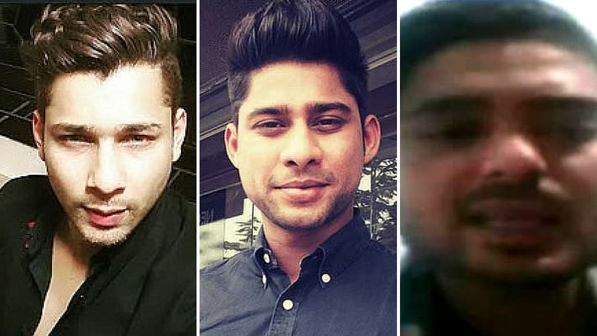 Shahnawaz Khan (L), Sambia Sohrab (C) and Johnnie(R), the three main accused in the Kolkata hit-and-run case. (Photo altered by <b>The Quint</b>)
