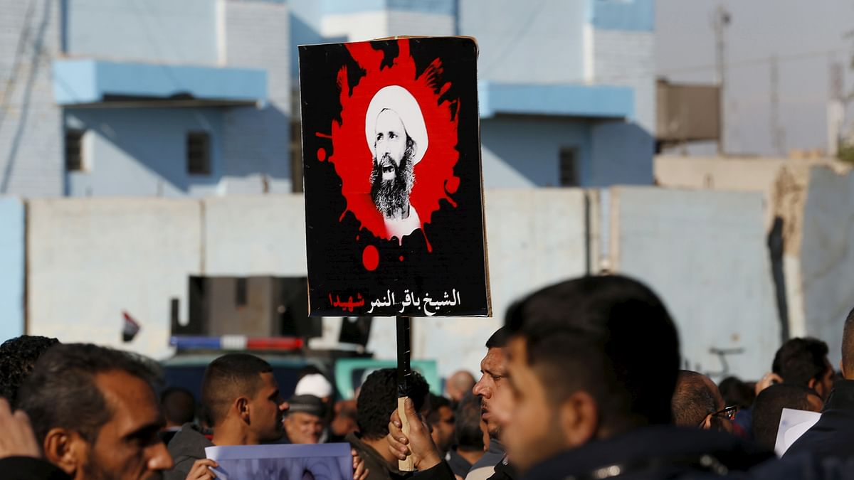 Supporters of Shi'ite cleric Moqtada al-Sadr protest against the execution of Shi'ite Muslim cleric Nimr al-Nimr in Saudi Arabia. (Photo: Reuters)