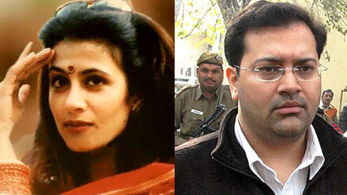 "Jessica Lal (left), convict Manu Sharma (right). (Photo Courtesy: <a href=""http://www.oneindia.com/india/jessica-lall-murder-convict-manu-sharma-marries-mumbai-girl-1729072.html"">OneIndia</a>)"