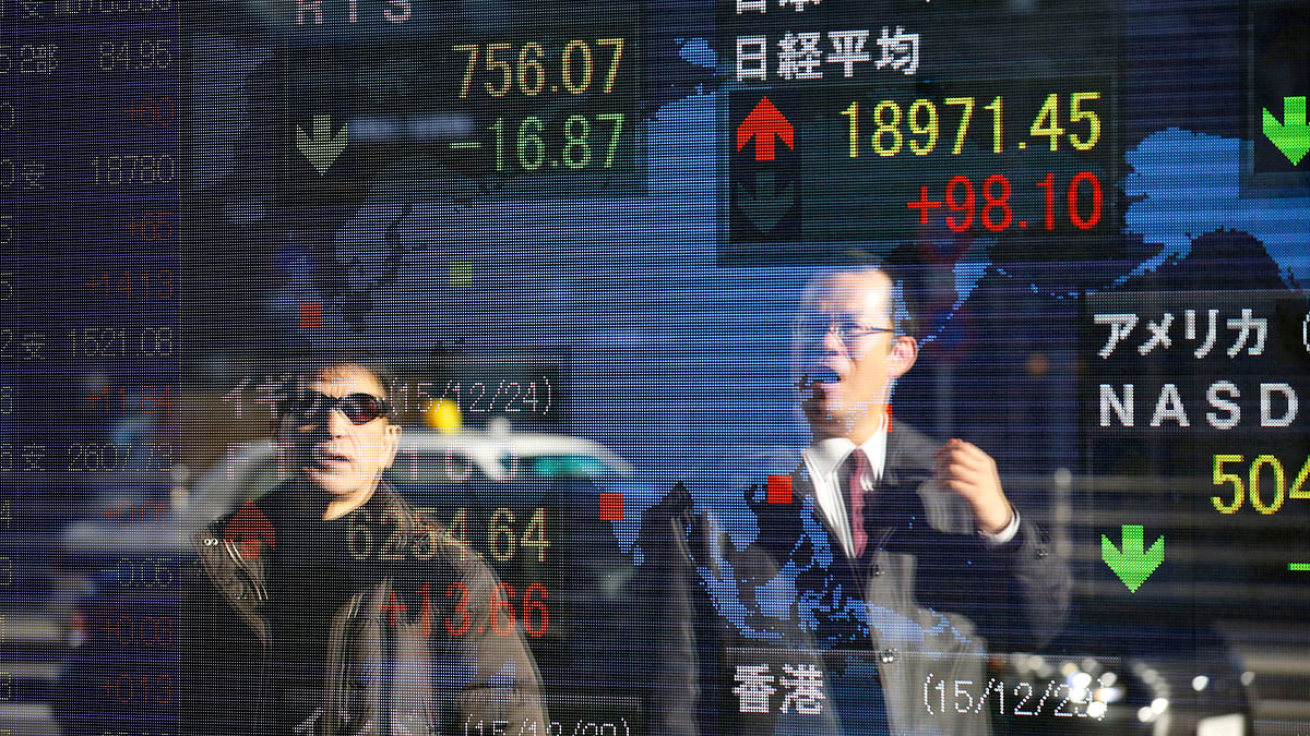 Chinese shares seemed to be faring better for once.(Photo: Reuters)