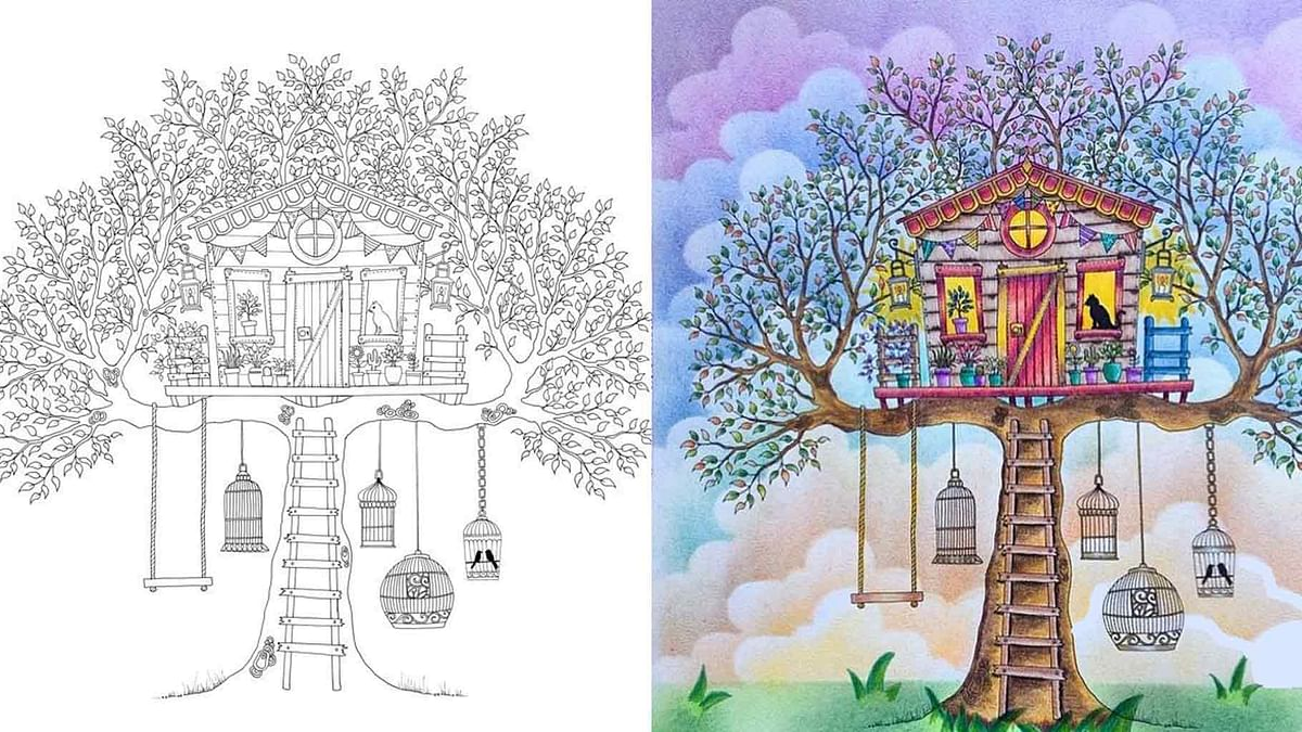 "Adult colouring books are enjoying a boom. Look at this illustration from the hugely successful adult colouring book, 'Secret Garden', which has sold more than two million copies worldwide  (Pinterest/@<a href=""https://www.pinterest.com/camymartins/"">Camila Martins</a>)"
