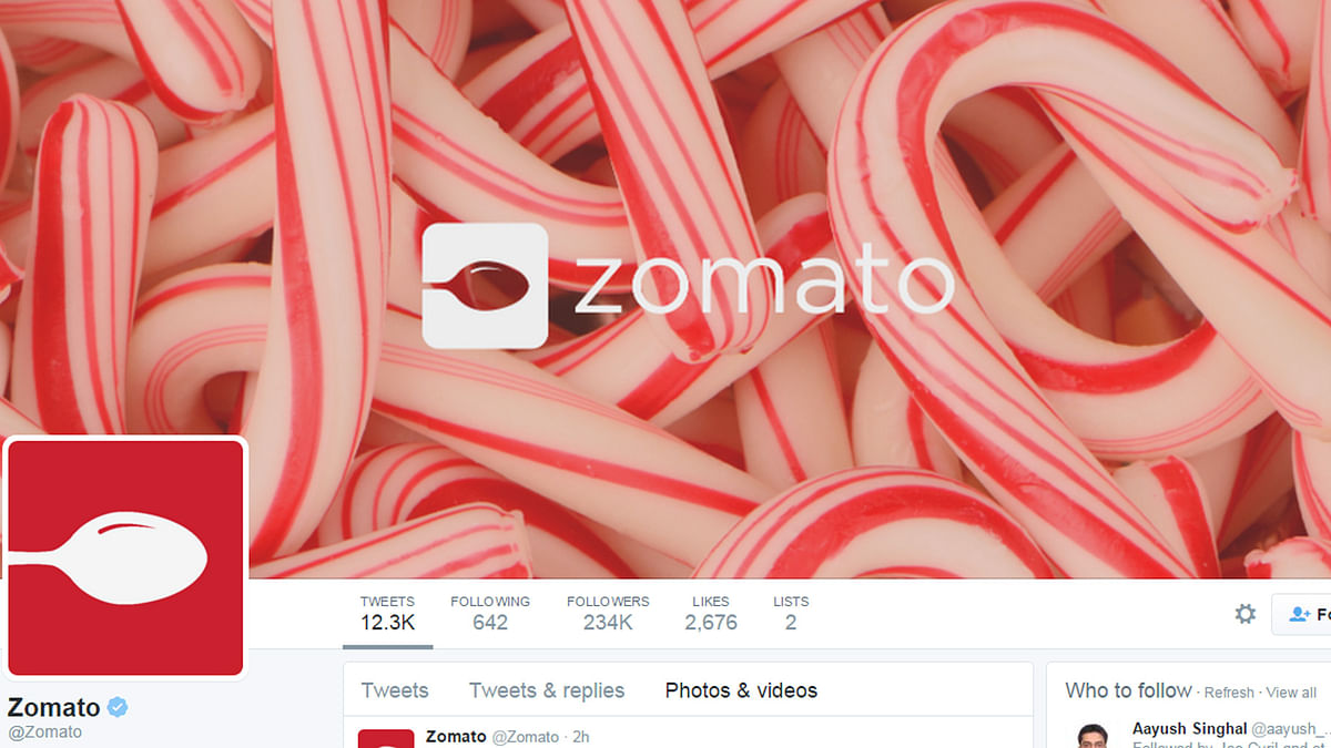"""Zomato will no longer offer online food services in four Indian cities. (Photo: <a href=""""https://twitter.com/Zomato"""">Twitter/@Zomato</a>)"""