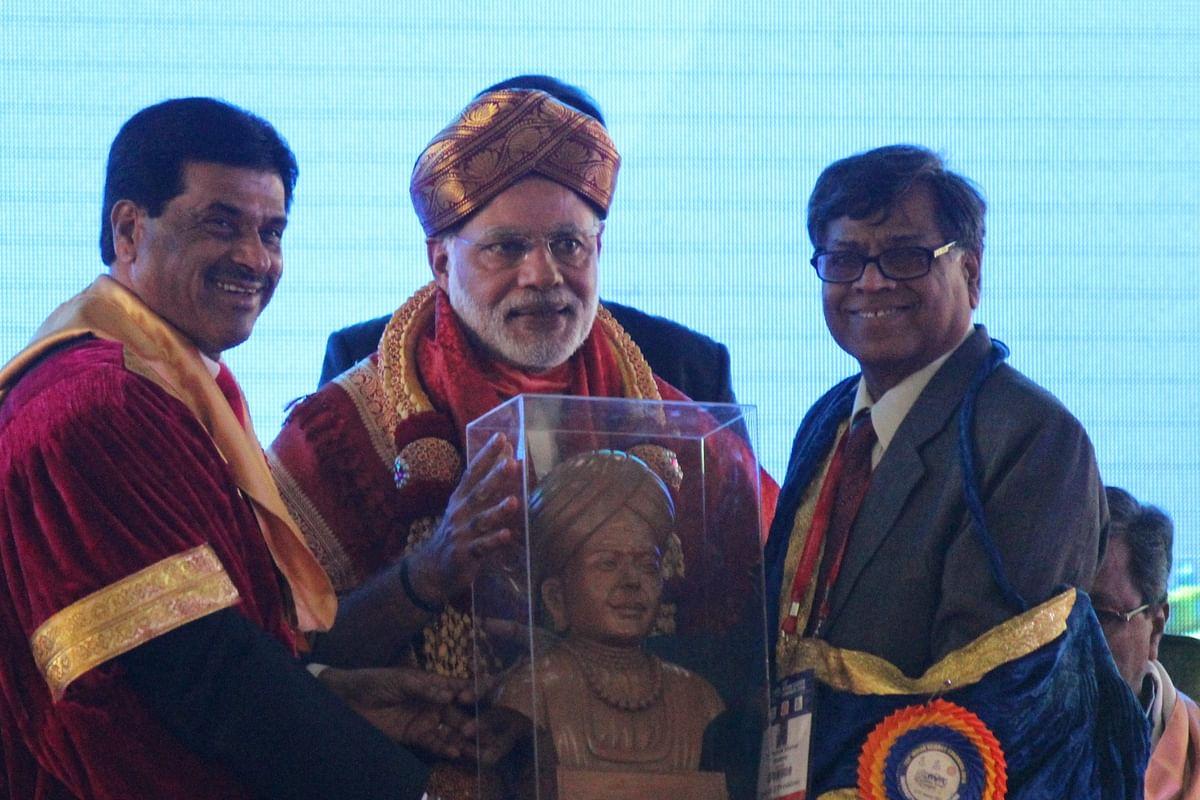 Narendra Modi at the Indian Science Congress in Mysore. (Photo courtesy: NB Nair)