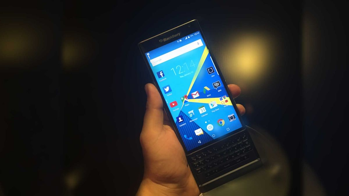 BlackBerry Priv. (Photo: <b>The Quint</b>)