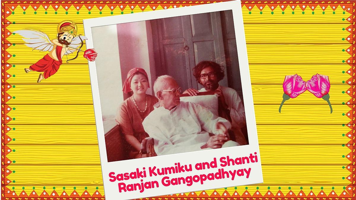 Sasaki Kumiku and Shanti Ranjan Gangopadhyay got married in 1976. (Image Altered by <b>The Quint</b>)