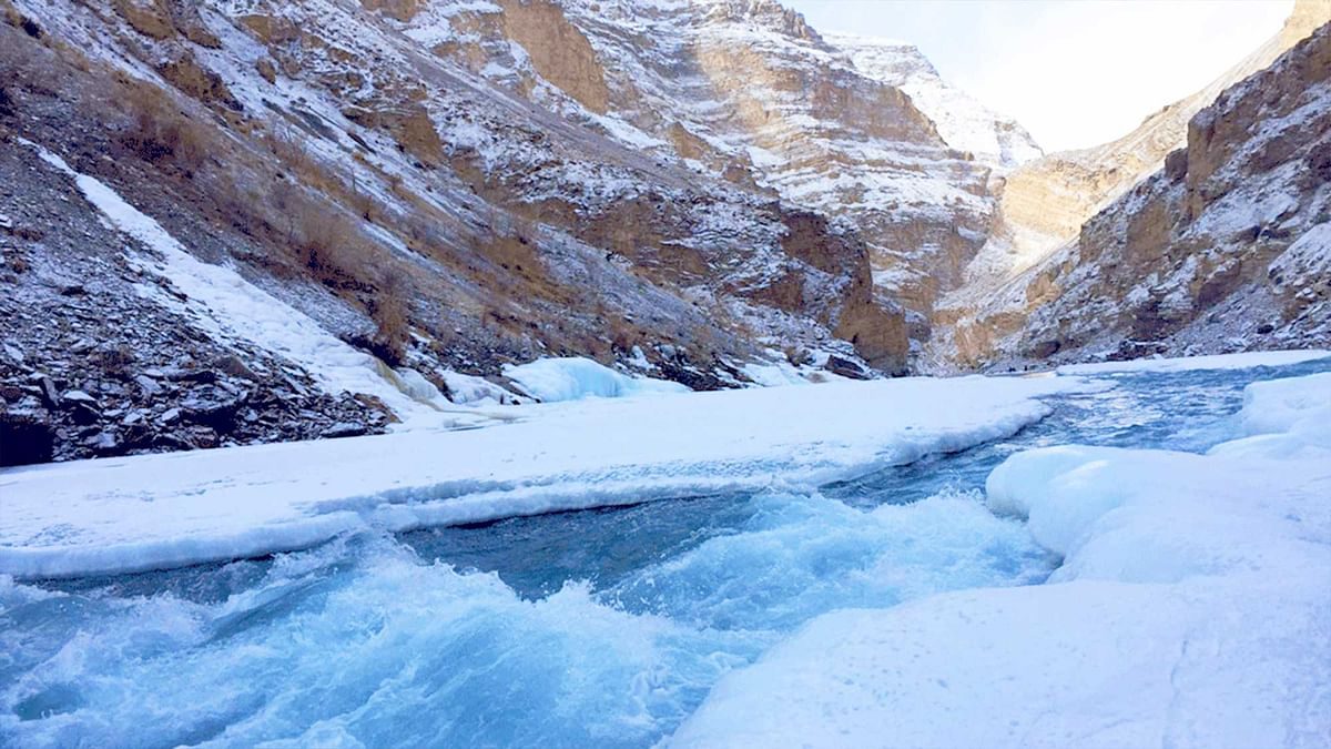 The body was found when the Indian Air Force launched an air rescue this morning. The frozen Zanskar river in Ladakh