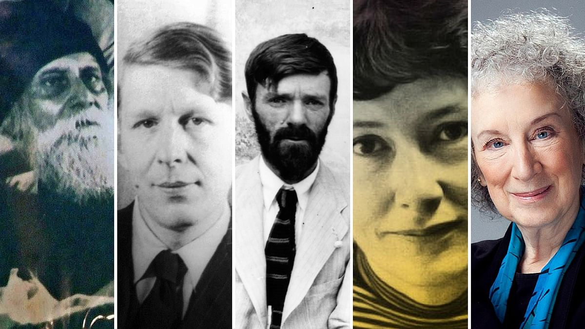 Tagore, Auden, Lawrence, Levertov and Atwood. (Photo: <b>The Quint</b>)