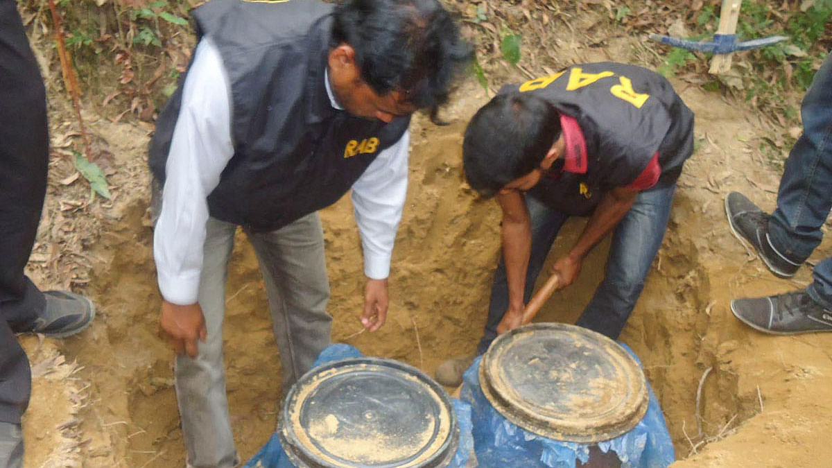 Much of the stock at Sherpur was possibly meant for various customers of ULFA.(Photo courtesy: bdnews24.com)