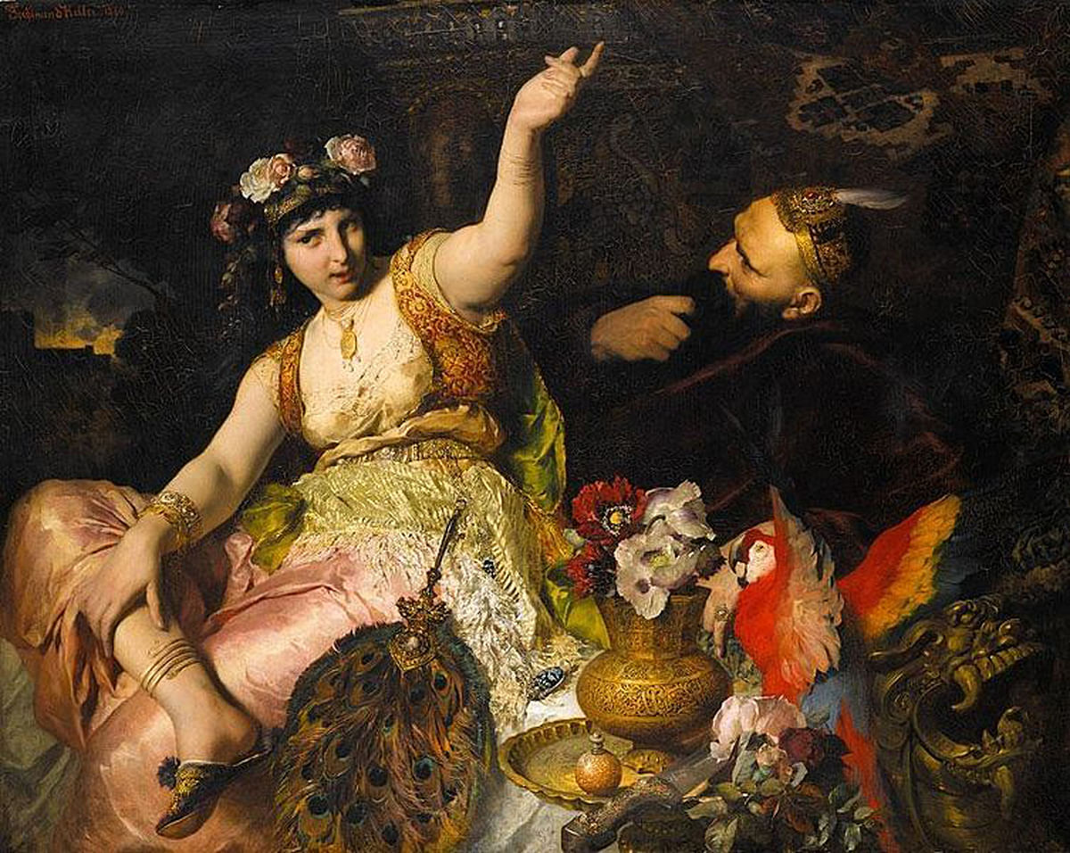 Scheherazade and Shahryar, by Ferdinand Keller, 1880. (Photo Courtesy: Wikimedia Commons)