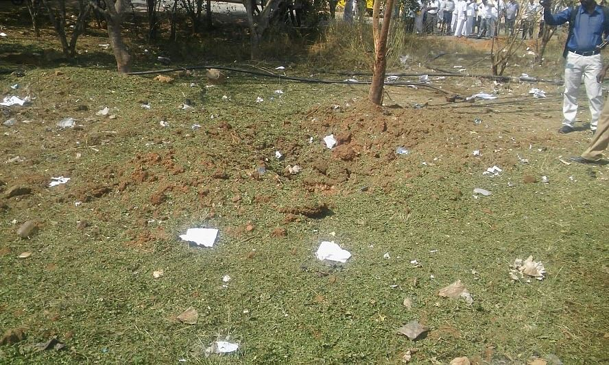 Pieces of shattered glass-windows and windshield scattered due to alleged meteor explosion. (Photo: The News Minute)