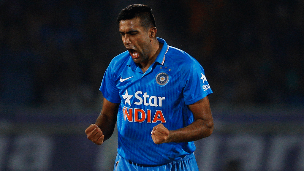 File picture of Indian cricketer R Ashwin in ODI action.