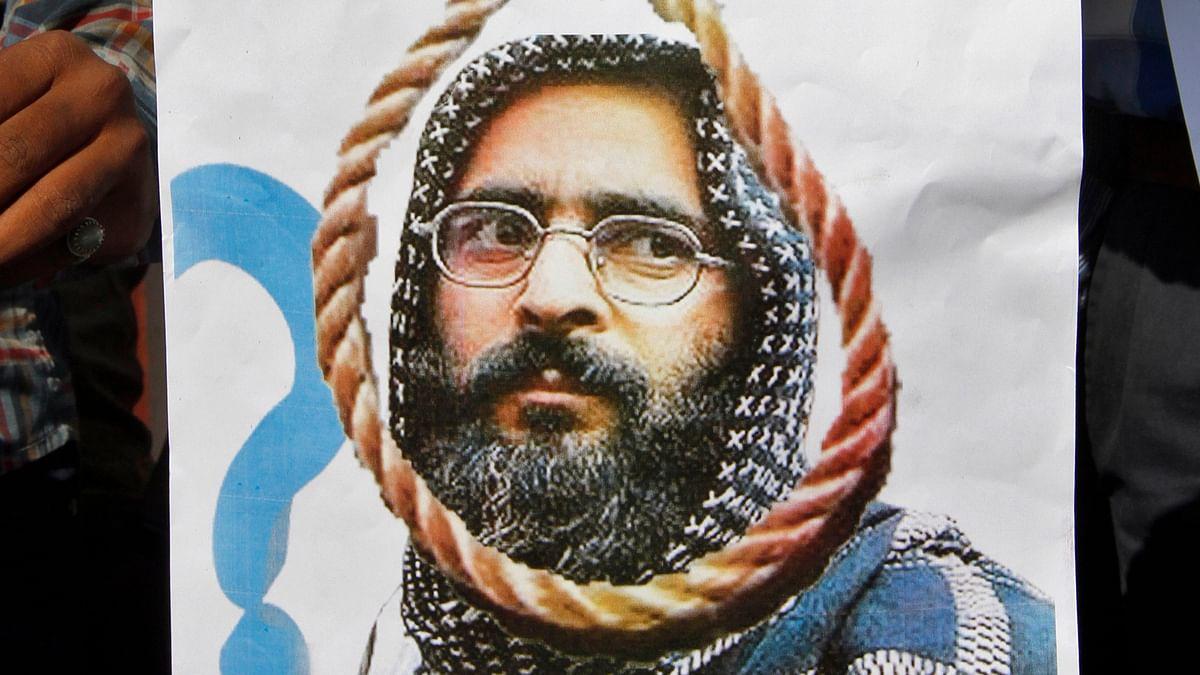 Afzal Guru was hanged at Tihar Jail in Delhi.