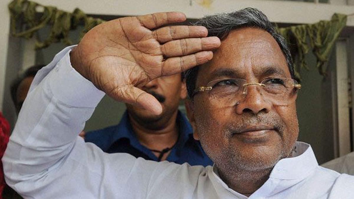 Karnataka Chief Minister Siddaramaiah. (Photo Courtesy: <i>The News Minute</i>)