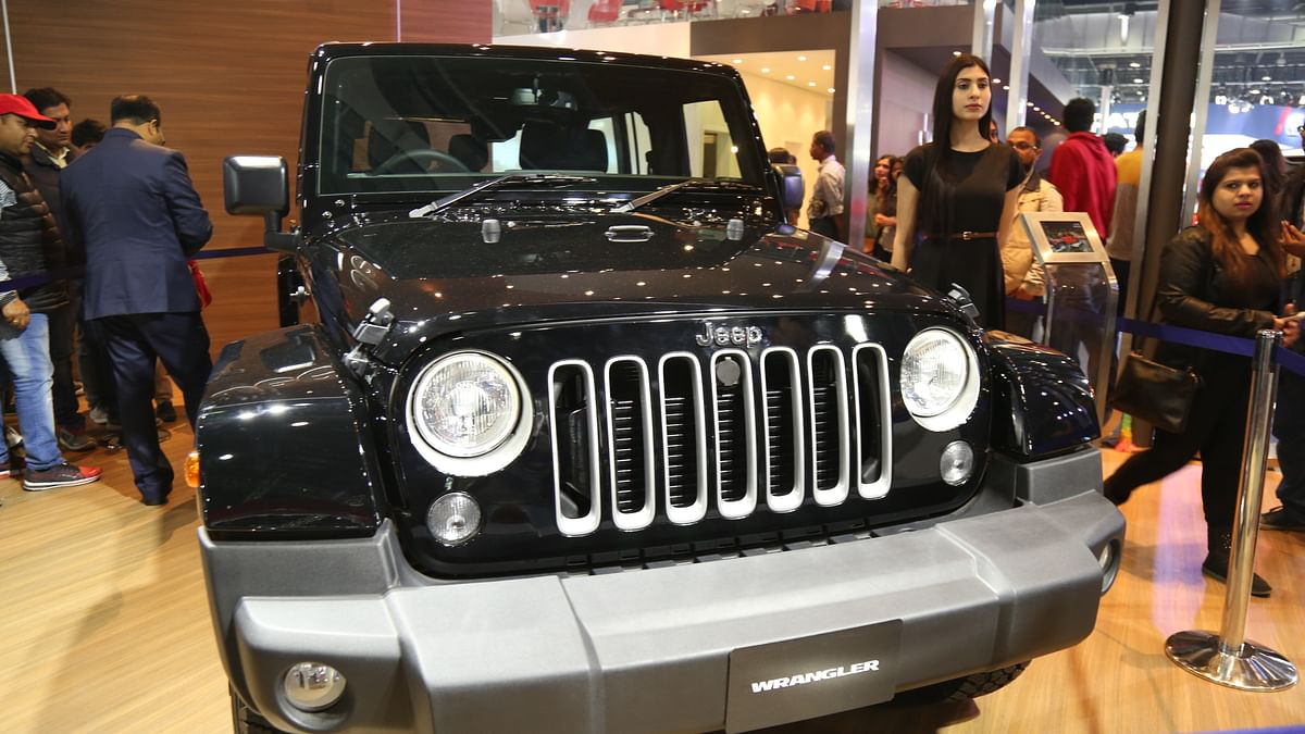 Jeep makes it's India debut with the Wrangler Unlimited as one of the SUVs in its stable. (Photo: <b>The Quint</b>)