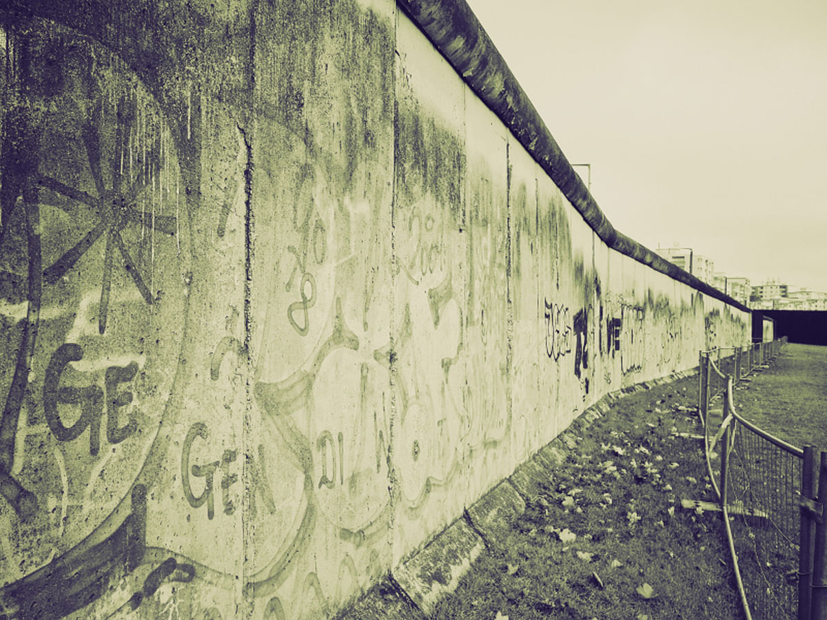 The Berlin Wall from the Second World War is another trope used in his book. (Photo: iStock)