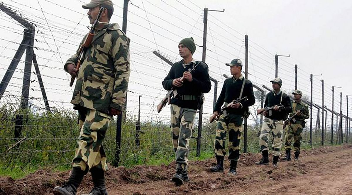 Border Security Force soldiers patrol the border. (Photo: PTI)