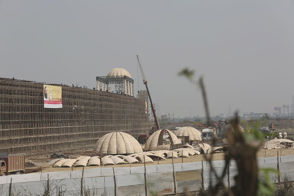 The site where World Culture Festival will take place. (Photo:<b> The Quint)</b>