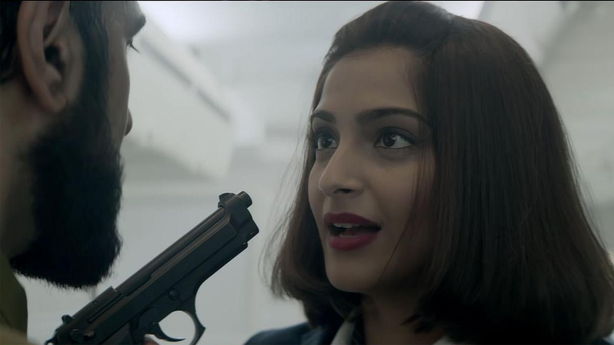Sonam Kapoor in a still from the teaser of  <i>Neerja</i>. (Photo Courtesy: YouTube screengrab)