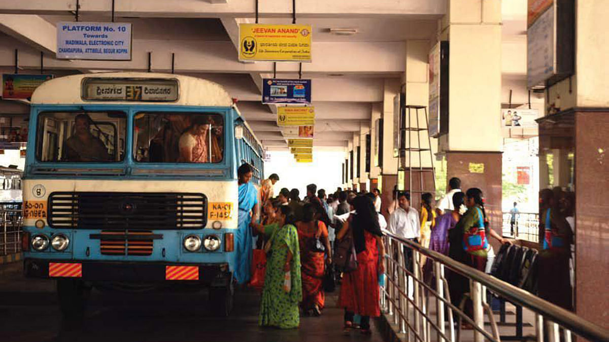 A BMTC/KSRTC bus. Photo used for representation.
