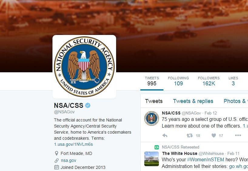 (Photo: Screengrab of Twitter/NSA/CSS)