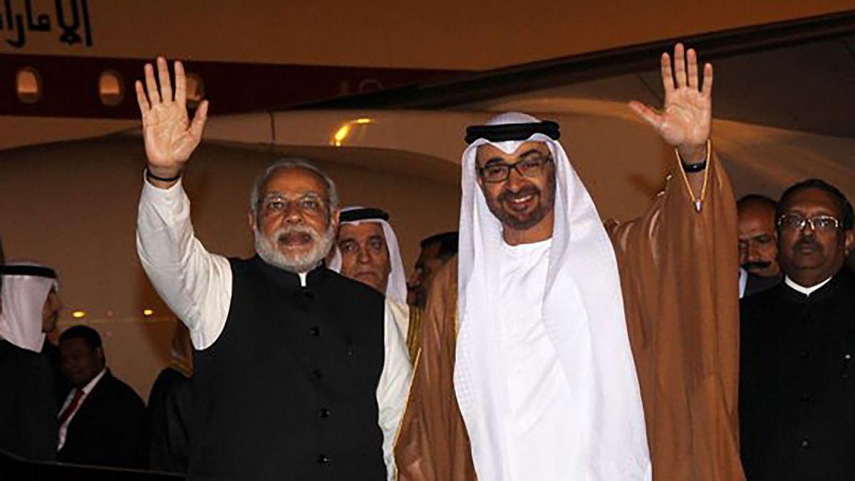 "Prime Minister Narendra Modi with Abu Dhabi Crown Prince Sheikh Mohamed bin Zayed Al Nahyan. (Photo: <a href=""https://twitter.com/narendramodi/status/697414150922723328"">Twitter</a>)"