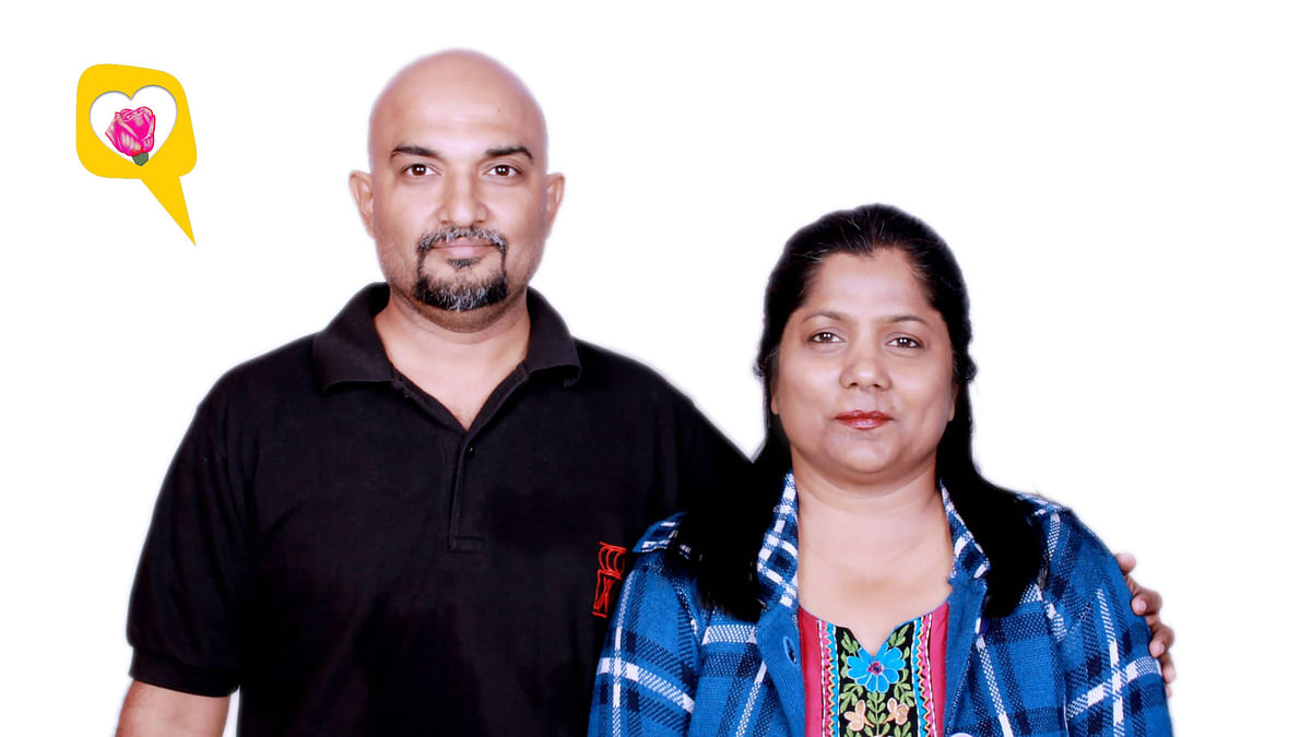 Kirti and Lalit share a bond of 30 years, and counting. (Photo: Kirti Pandey, altered by <b>The Quint</b>)