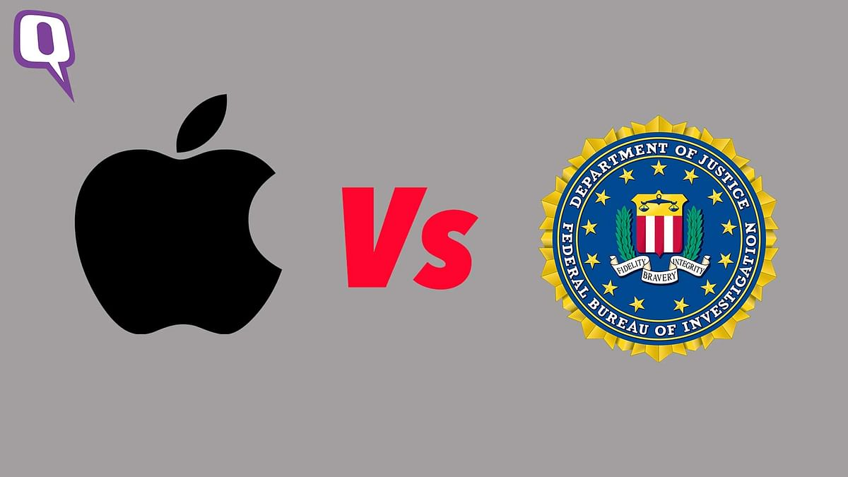 The iPhone security breach is a hotly debated subject in the media. (Photo: <b>The Quint</b>)