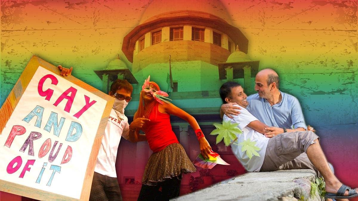SC to hear a curative petition to decriminalise homosexuality and abolish Section 377 of the IPC. (Photo: Altered by <b>The Quint</b>)