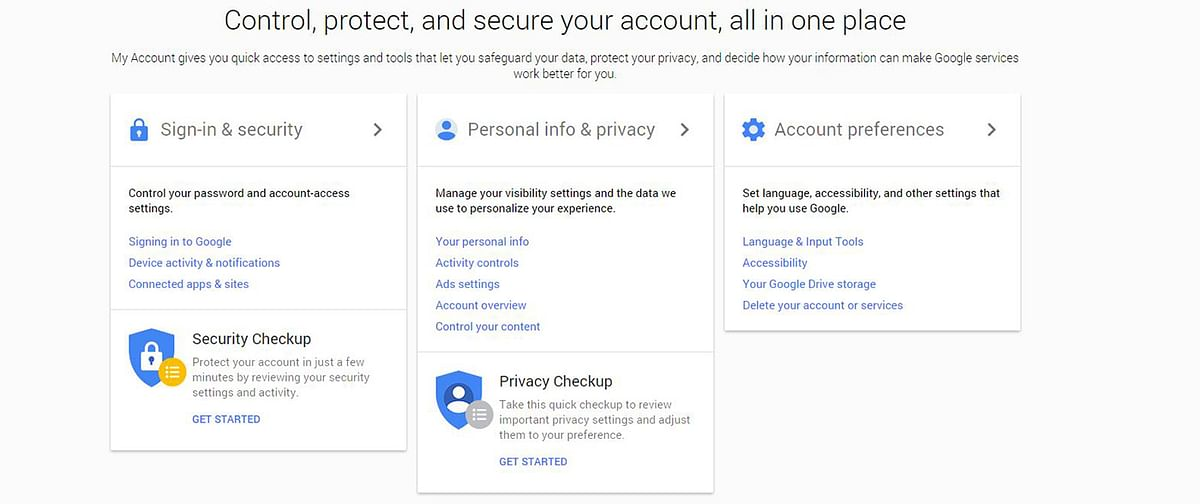 Get the security checkup done to avail free 2GB storage. (Photo: Google Screengrab)