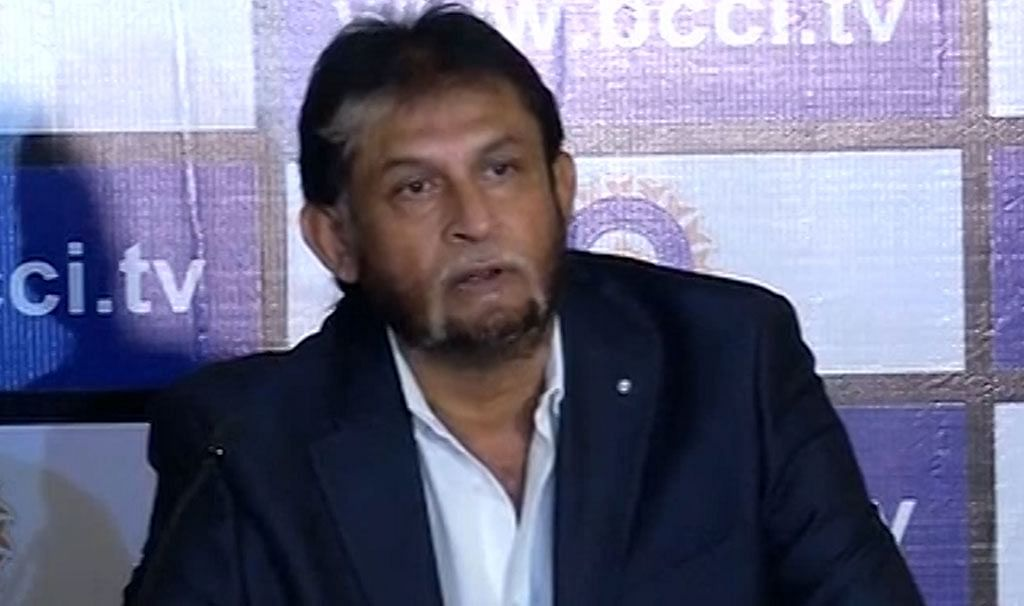 Sandeep Patil attends the press conference after selecting the Indian team for the World T20 and Asia Cup. (Photo: ANI)